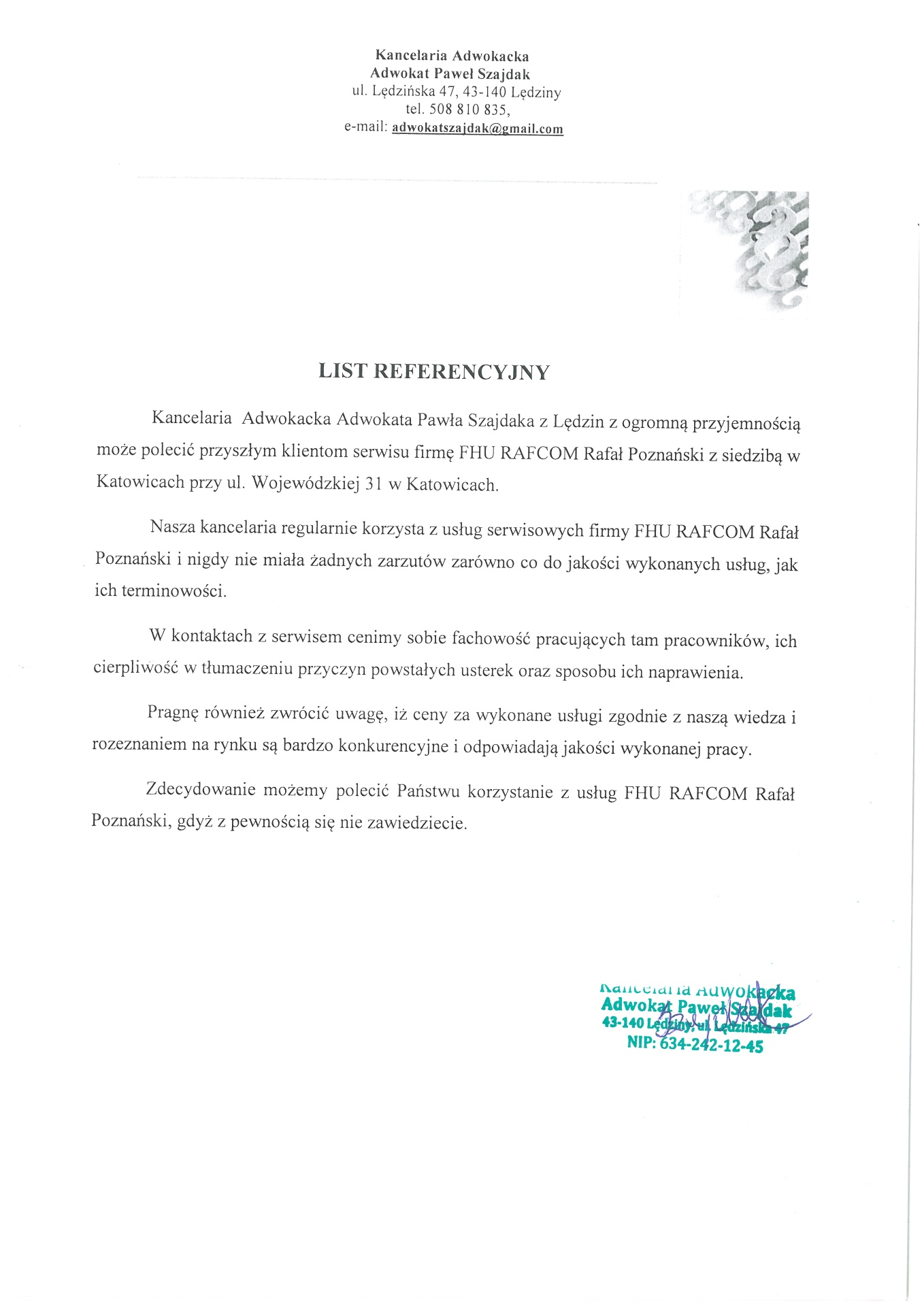 1-Referencje_dla_RAFCOM_Kancelaria-Adwokacka_P_Szajdaka